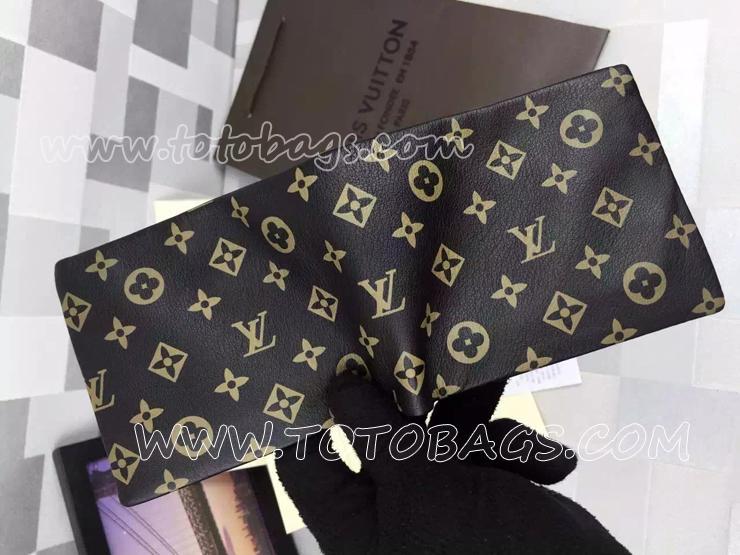 「LV」ロゴ二つ折り財布 ルイヴィトン2015新作財布N品
