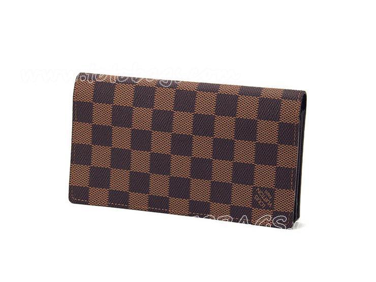 N63022 ルイ・ヴィトン財布シンプルなデザインが特徴 LOUIS VUITTON ダミエ 長財布 ダークブラウン