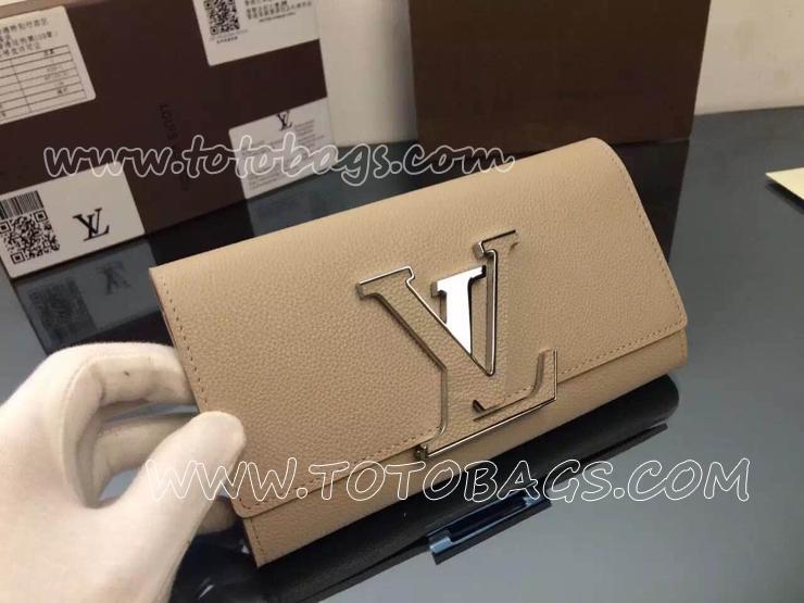 ルイヴィトン財布 ヴィトンポルトフォイユ・カプシーヌ THE NEW CAPUCINES WALLETミシェル・ウィリアムズが魅せる新作長財布M61249