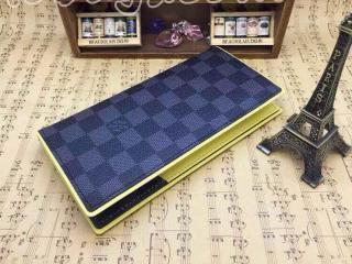 N63252ルイヴィトン財布ポルトフォイユ・ブラザ ルイヴィトンダミエ グラフィット二つ折り財布