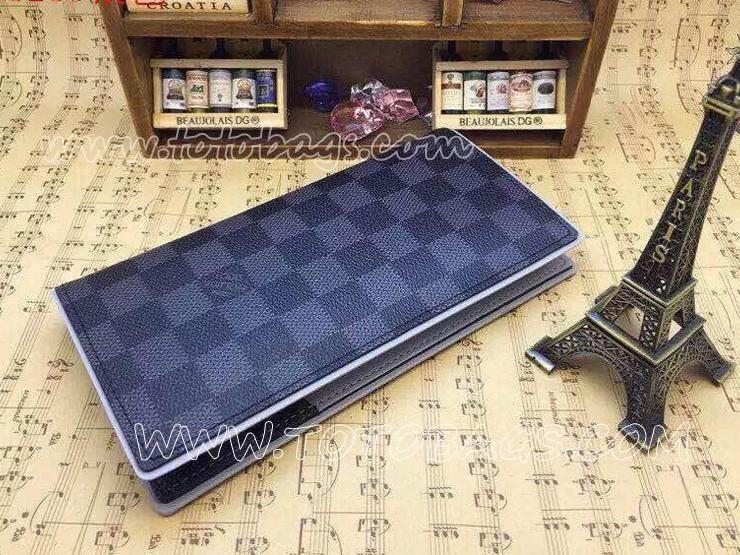 N63253 ルイ・ヴィトン長財布 ポルトフォイユ・ブラザ財布 ダミエ・グラフィット 二つ折り財布