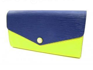 ルイヴィトン エピ 長財布 ポルトフォイユ サラ 美品 2カラー ブルー イエロー M60528 メンズ レディース