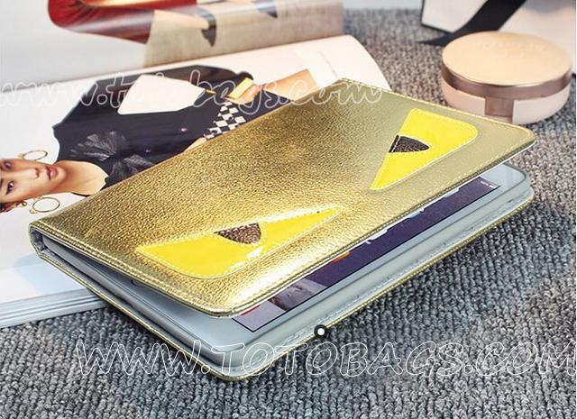 FENDI小怪獣ipadケース 可愛いのケース 立体回転ケースipadケース