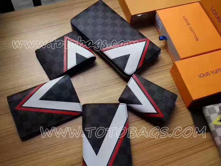 N64008 ルイヴィトン 財布ポルトフォイユ・スレンダー 幾何学模様と、航海を想わせるアクセントが特徴の財布 ルイヴィトン二つ折財布 スーパーコピー