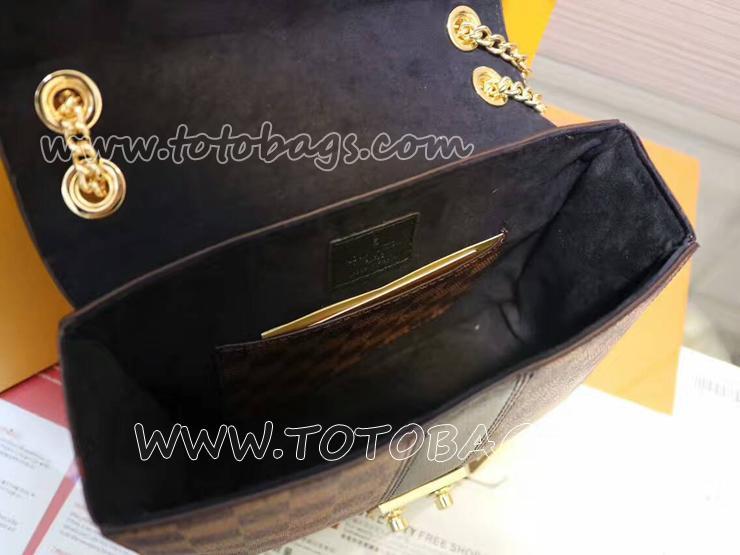 M41588 ダミエ・エベヌチェーンバッグ LOUIS VUITTON売れ筋のヴィトン新作 斜めがけショルダーバッグ