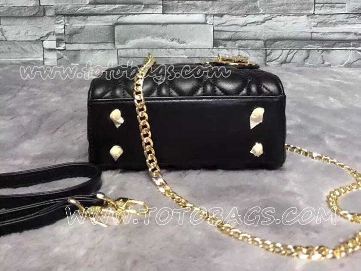 ディオールバッグスーパーコピー D17147-b Dior ブラック ラムスキン