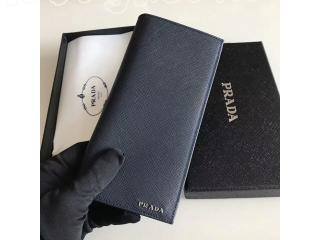 プラダ  サフィアーノ メタルロゴ メンズウォレット カーフスキン 二つ折り 小銭入れ付き 長財布 サイフ ドキュメントケース 2M0836 053 F0002 SAFFIANO METAL NOIR WALLET
