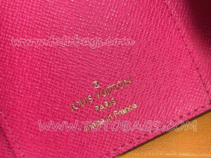 M41938 ルイ・ヴィトン モノグラム 財布スーパーコピー「LOUIS VUITTON」ポルトフォイユ・ヴィクトリーヌ モノグラム フューシャ - 財布&小物