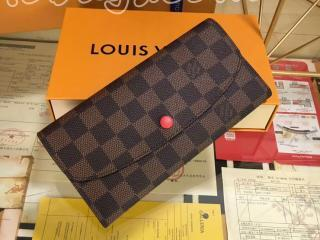 N63544 ルイヴィトン ダミエ・エベヌ 財布 スーパーコピー「LOUIS VUITTON」 ポルトフォイユ・エミリー 二つ折り長財布