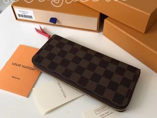 N60534 ルイヴィトン ダミエ・エベヌ 財布 コピー LOUIS VUITTON ポルトフォイユ・クレマンス スリーズ ドファスナー長財布