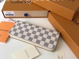 N61264 ルイヴィトン ダミエ・アズール 財布 コピー LOUIS VUITTON ポルトフォイユ・クレマンス ローズ・バレリーヌ ドファスナー財布