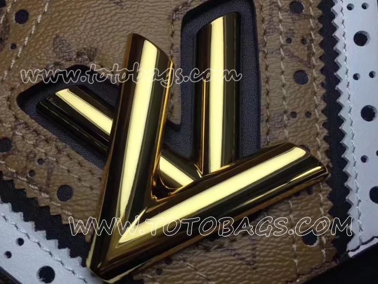 M44214 ツイスト MM ルイ・ヴィトンのクラフツマンシップ モノグラム・キャンバス ショルダーバッグ
