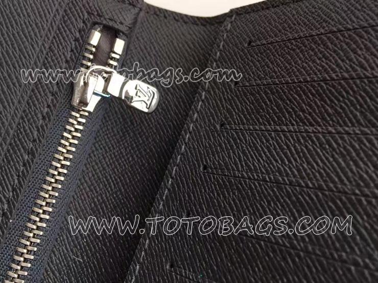 N61064 ルイヴィトン 財布 メンズ 二つ折り 「LOUIS VUITTON」 ポルトフォイユ・アレクサンドル ヴィトン ダミエ・エベヌ 人気 長財布