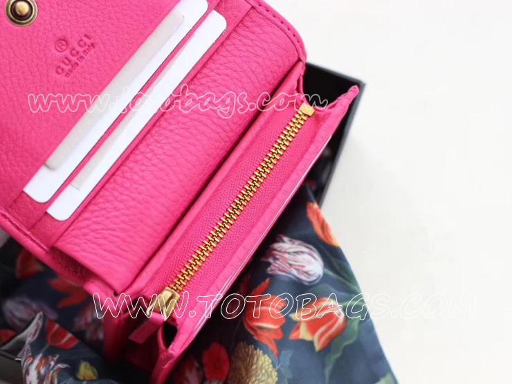 499361 CAOGT 5969 グッチ レディース 二つ折り財布 〔GUCCI〕バタフライレザーカードケース 3カラー 小銭入れ 2色 ピンク レザー