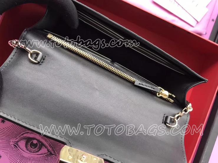 グッチ バッグ スーパーコピー GUCCI Signature ミニバッグ レディース チェーンショルダーバッグ 2色可選択 ブラック 409340 CWC1G 1000