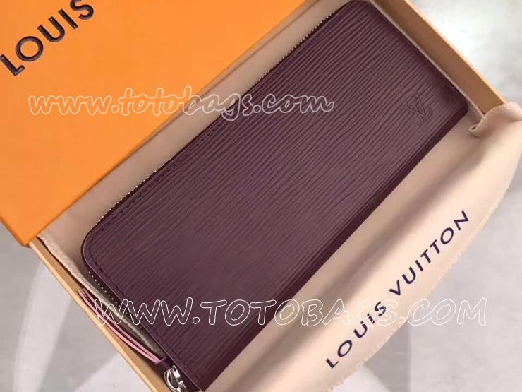 M64307 ルイヴィトン エピ 長財布 スーパーコピー 「LOUIS VUITTON」 ポルトフォイユ・クレマンス ヴィトン レディース ラウンドファスナー財布 プルーヌ