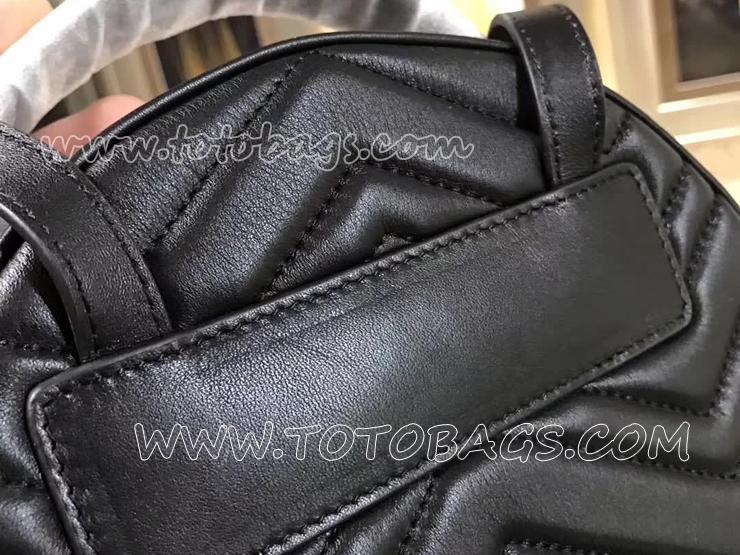 476671 DTDHD 1000 グッチ GGマーモント バッグ スーパーコピー GUCCI GG Marmont キルティングレザー レディース バックパック 6色 ブラック レザー