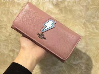 コーチ/COACH財布 レディース財布二つ折り財布長財布 電光柄