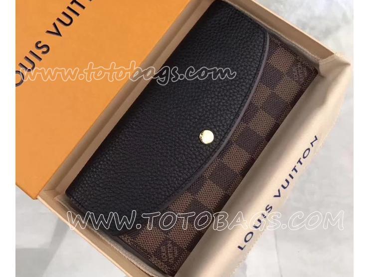 N61261 ルイヴィトン ダミエ・エベヌ 長財布 スーパーコピー 「LOUIS VUITTON」 ポルトフォイユ・ノルマンディ ヴィトン トリヨン 二つ折り財布 2色 ノワール