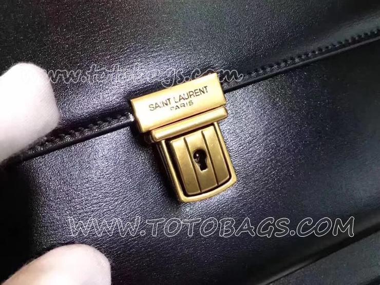ハイスクール・サンローラン サッチェル レディース バッグ スーパーコピー SAINT LAURENT ショルダーバッグ・ポシェット 2色 ブラック レザー 30cm 434423 6263