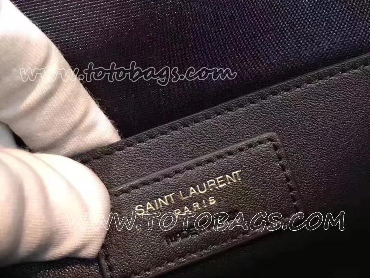 ハイスクール・サンローラン サッチェル レディース バッグ スーパーコピー SAINT LAURENT ショルダーバッグ・ポシェット 2色 バーガンディ レザー 30cm 434423 6263