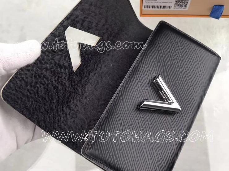 M62008 ルイヴィトン エピ 長財布 スーパーコピー 「LOUIS VUITTON」 ポルトフォイユ・ツイスト ステッカー ヴィトン レディース 二つ折り財布