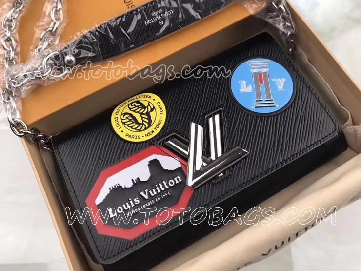 M62007 ルイヴィトン エピ 長財布 コピー 「LOUIS VUITTON」 ポルトフォイユ・ツイスト ヴィトン レディース チェーンショルダー 二つ折り財布