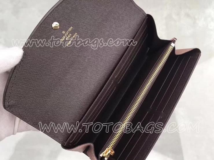 N61262 ルイヴィトン ダミエ・エベヌ 長財布 コピー 「LOUIS VUITTON」 ポルトフォイユ・ノルマンディ ヴィトン トリヨン 二つ折り財布 2色 マグノリア