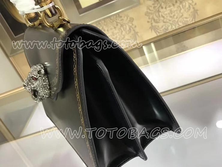 488666 DT98X 8556 グッチ シアラ バッグ スーパーコピー GUCCI バンブー フレームプリント バッグ レディース ショルダーバッグ 2色可選択 ブラック