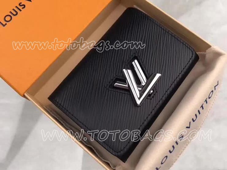 M64414 ルイヴィトン エピ 財布 スーパーコピー 「LOUIS VUITTON」 ポルトフォイユ・ツイスト コンパクト ヴィトン レディース 三つ折り財布 3色可選択 ノワール