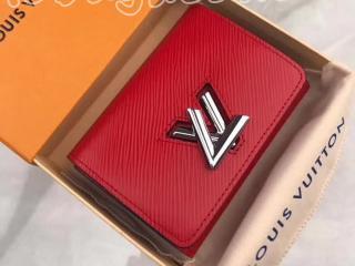 M64413 ルイヴィトン エピ 財布 コピー 「LOUIS VUITTON」 ポルトフォイユ・ツイスト コンパクト ヴィトン レディース 三つ折り財布 3色 コクリコ