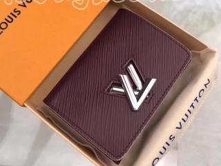 M67709 ルイヴィトン エピ 財布 スーパーコピー 「LOUIS VUITTON」 ポルトフォイユ・ツイスト コンパクト ヴィトン レディース 三つ折り財布 4色可選択 プルーヌ