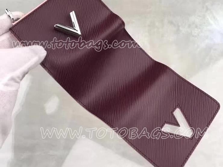 M67709 ルイヴィトン エピ 財布 スーパーコピー 「LOUIS VUITTON」 ポルトフォイユ・ツイスト コンパクト ヴィトン レディース 三つ折り財布 3色可選択 プルーヌ
