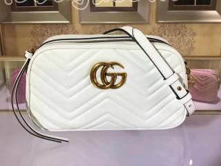447632 DTD1D 9022 グッチ GGマーモント バッグ コピー GUCCI GG Marmont スモール レディース ショルダーバッグ 7色 ホワイト レザー