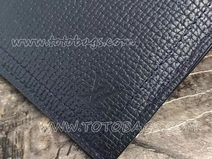 M64138 ルイヴィトン カーフ 長財布 スーパーコピー 「LOUIS VUITTON」 ポルトフォイユ・ロング コイン ヴィトン メンズ 二つ折り財布 2色 ブルーマリーヌ