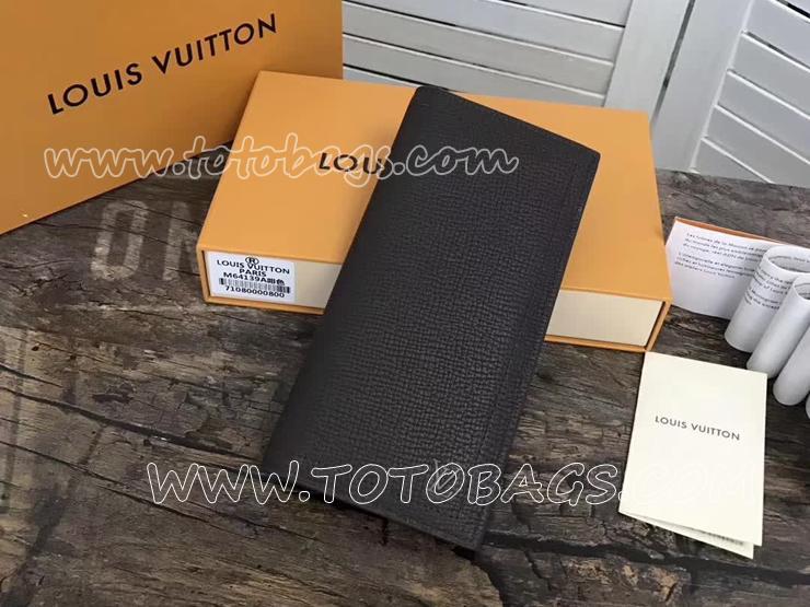 M64139 ルイヴィトン カーフ 長財布 コピー 「LOUIS VUITTON」 ポルトフォイユ・ロング コイン ヴィトン メンズ 二つ折り財布 2色可選択 マロン