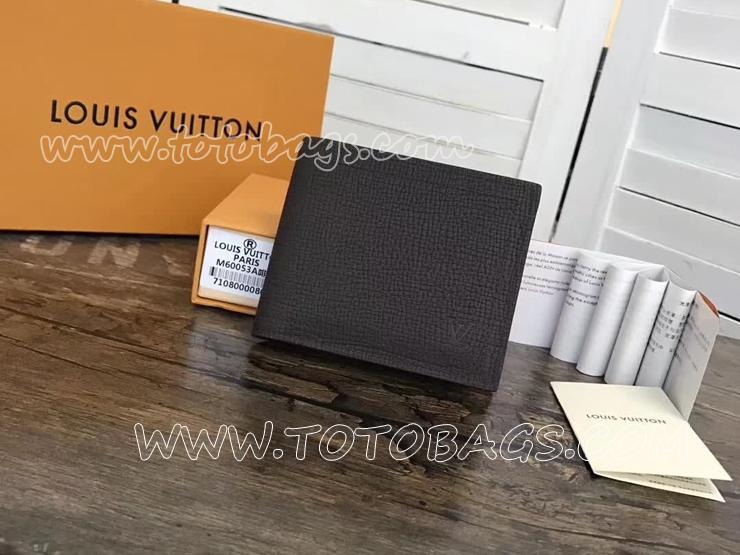 M64136 ルイヴィトン カーフ 財布 スーパーコピー 「LOUIS VUITTON」 ポルトフォイユ・コンパクト ヴィトン メンズ 二つ折り財布 2色 マロン