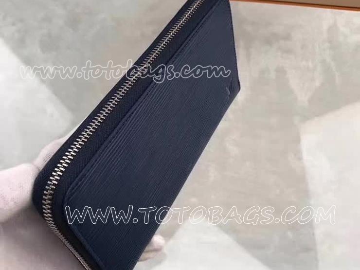 M61873 ルイヴィトン エピ 長財布 スーパーコピー 「LOUIS VUITTON」 ジッピー・ウォレット ヴィトン レディース ラウンドファスナー財布 アンディゴブルー
