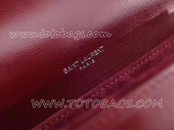 482051D420D6219 サンローラン レディース バッグ スーパーコピー Saint Laurent ベルシャス バッグ 3色可選択 ミディアム/ダークレッド/レザー