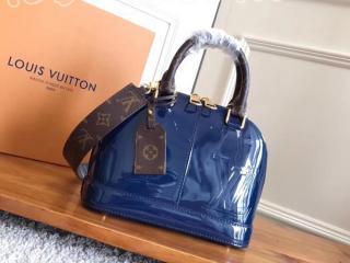 M54705 ルイヴィトン パテント バッグ スーパーコピー 「LOUIS VUITTON」 アルマ BB ハンドバッグ ヴィトン レディース ショルダーバッグ 3色可選択 マリーヌ