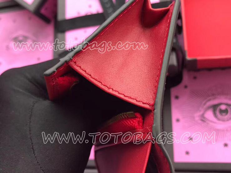 476050 K9GXT 8694 グッチ GGスプリーム 財布 コピー GUCCI GG Supreme チェリー付きキャンバス カードケース(コイン&紙幣入れ付き) レディース 二つ折り財布