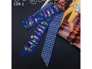 7000円以上【送料無料】エルメスバッグスカーフ/バッグ用レオパード柄スカーフ パターンスカーフ 巻物 バッグ飾り バッグハンドル リボン スカーフ 多色選択