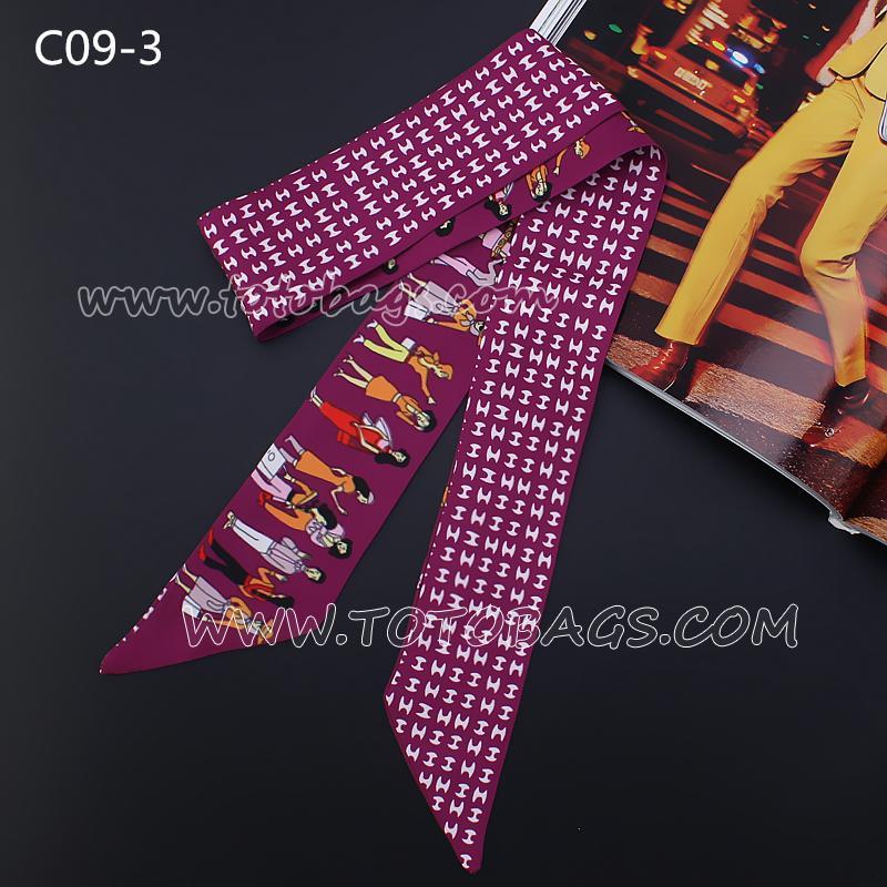 7000円以上【送料無料】エルメスバッグスカーフ/バッグ用レオパード柄スカーフ パターンスカーフ 巻物 バッグ飾り バッグハンドル リボン スカーフ