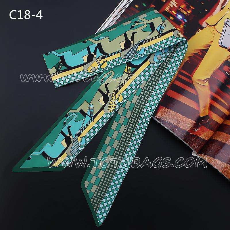 7000円以上【送料無料】エルメスバッグスカーフ/バッグ用レオパード柄スカーフ パターンスカーフ 巻物 多色選択