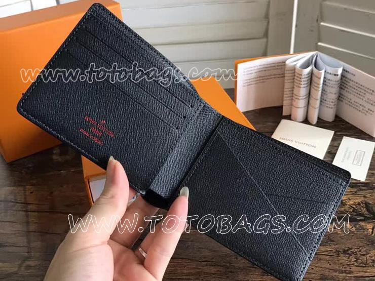 M62891 ルイヴィトン モノグラム・インク 財布 コピー 「LOUIS VUITTON」 ポルトフォイユ・ミュルティプル ヴィトン メンズ 二つ折り財布