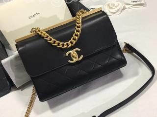 シャネル バッグ スーパーコピー CHANEL Flap Bag フラップ バッグ ラムスキン レディース ショルダーバッグ 2018年春夏 プレコレクション ブラック 2色選択可 A57086 Y10477 10602