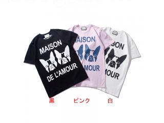 グッチ Tシャツ ロコ英字 【レディース・メンズ用】gucciシャツコピー 可愛いうさぎ 半袖 Tシャツ 3色選択可