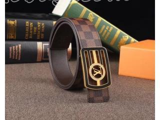 男女兼用ルイヴィトンベルト ダミエ ゴールド金具バックル Nランク最高級ブランド  幅38MM