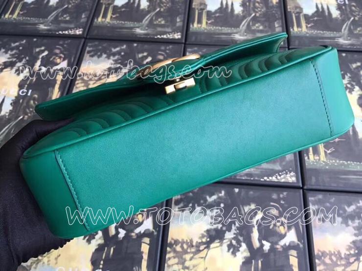 443497 DTDIT 3120 グッチ GGマーモント バッグ コピー GUCCI GG Marmont キルティングレザー レディース チェーンショルダーバッグ 8色可選択 エメラルドグリーン