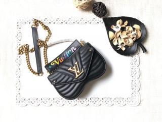M51683 ルイヴィトン バッグ スーパーコピー 「LOUIS VUITTON」 チェーンバッグ PM ヴィトン レディース ショルダーバッグ ニューウェーブ・レザー 4色可選択 ブラック